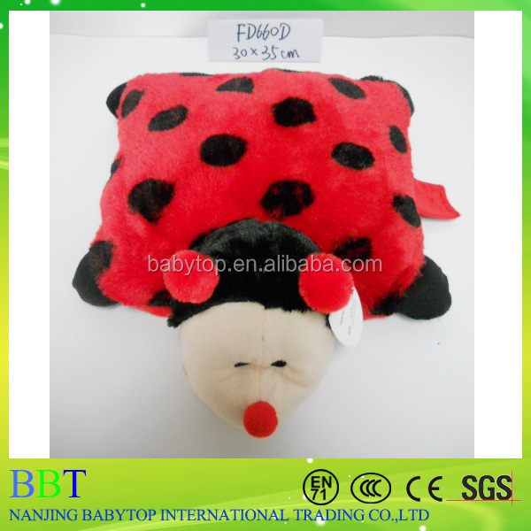 insect shaped plush pillow, plush insect pillow kids pillow
