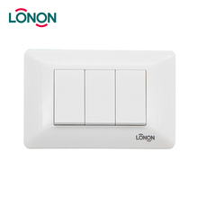 Reasonable Price 3 gang light 10 amp button switch
