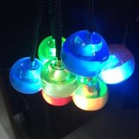 Flashing Led Light Up Finger Fidget Thumb Chucks Anti Stress Toys Multi Colors Finger LED Yo Yo Ball