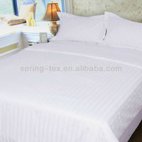 White polyester /cotton hotel bed sheet