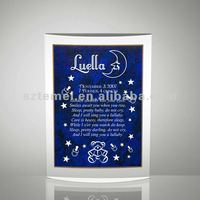 baby nighttime lullaby acrylic plaque