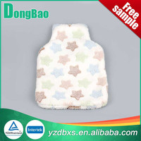 beautiful white and get good cute star soft plush animal shaped hot water bottle cover