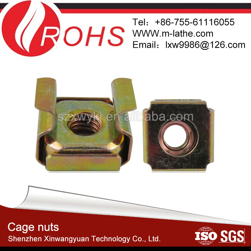 OEM high quality m6 cage nuts in the shenzhen