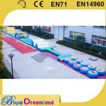 inflatable water obstacle course for sale Large Outdoor PVC Inflatable trampoline inflatable slides obstacle bouncer castle