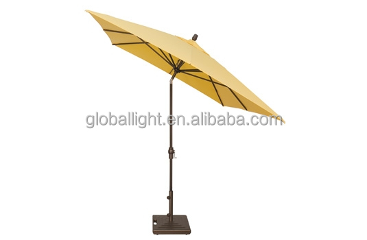 Customized yellow rectangle patio umbrella outdoor umbrella for drinking use for hot sale