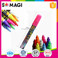 New Dual-Side Writing Fine Tip Highlighter Non-toxic Liquid Chalk Markers Erasable for Glass Window LED Writing Board