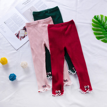 Autumn Spring Girls small drop ball  Kids Baby Girls Pants Leggings Long Trousers