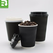 Cups coffee_disposable cups for hot drinks with lids_paper cup