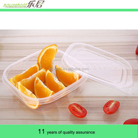 Disposable lunch box sales 710 ml transparent rectangle sealing plastic boxes Microwave oven take-out packaging boxes