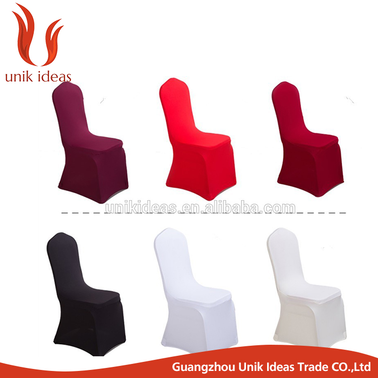 wholesale white wedding fashion spandex chair covers for folding chairs