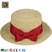 JAKIJAYI 2017 new style fashion raffia straw hat manufacturer bodies ladies custom summer made good quality sun boater hat