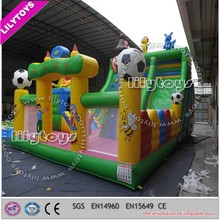 China amusement park toys , kids gams inflatable playground combos slides with bouncers