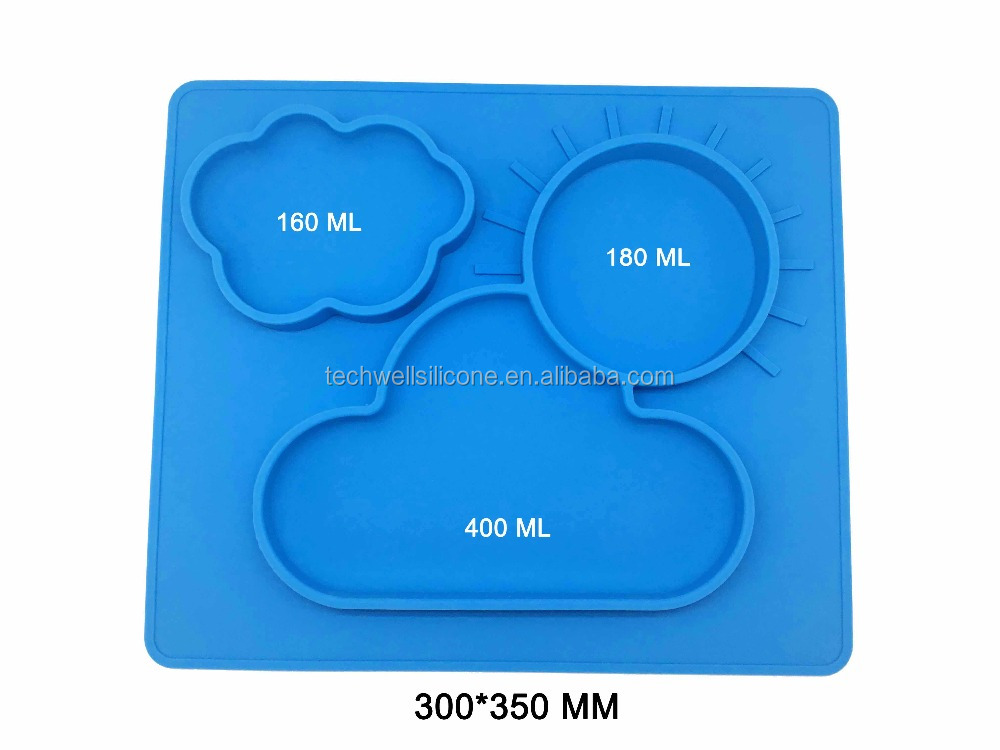 100% Food Grade Silicone Baby Dining Table Mat
