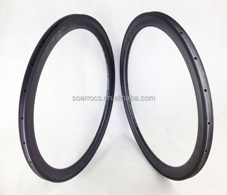 SoarRocs carbon Toray road racing rim with basalt break surface 50mm tubular 20h marble rims