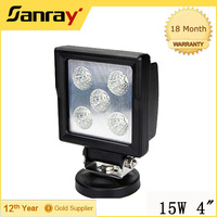 "4"" Square 15W Led Work Light, 4x4 Offroad 15W offroad led drving light for Auto car"