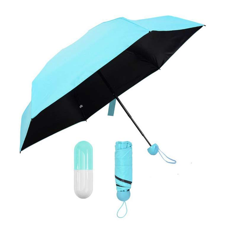mini 5 fold anti-uv umbrella capsule umbrella