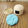 R1906H Straw Products For Pet Lgloo wicker Cat bed Pet Carrier Basket House