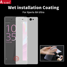 TPU full cover 3D curved edge water wet application screen protector for Xperia XA Ultra