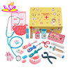 New hottest children pretend play wooden kids doctor set with 21 pcs W10D159