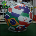 Customize Inflatable National Flag Balloon , Inflatable Flag Sphere For Holiday Events