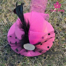 Boutique stylish carnival feather kids headdress