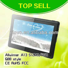 "cheapest 7"" inch allwinner a13 tablet/mid android 4.0 support software and games download free"