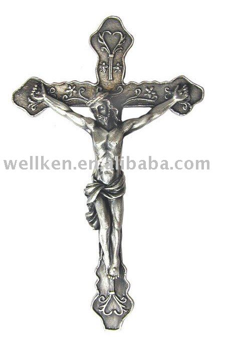 pewter Jesus,pewter christian crafts,pewter cross