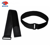 Hot sale adjustable hook and loop straps with buckle