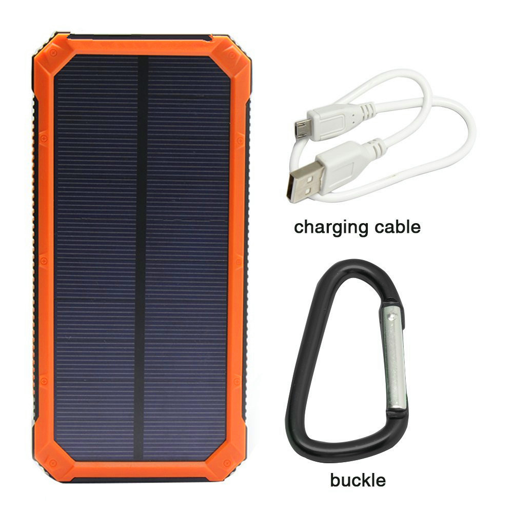 new products 2017 solar mobile phone charger,10000mAh solar power bank
