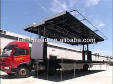 Top sale Mobile stage truck length:13m stage area:105 m2 good product