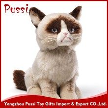 Cheap Cartoon Stuffed Kids Toys Custom Animal Pillow Plush cat toy pet