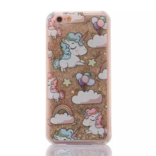 Dropshipping glitter unicorn liquid sand mobile phone case for samsung Note5 note4 note3