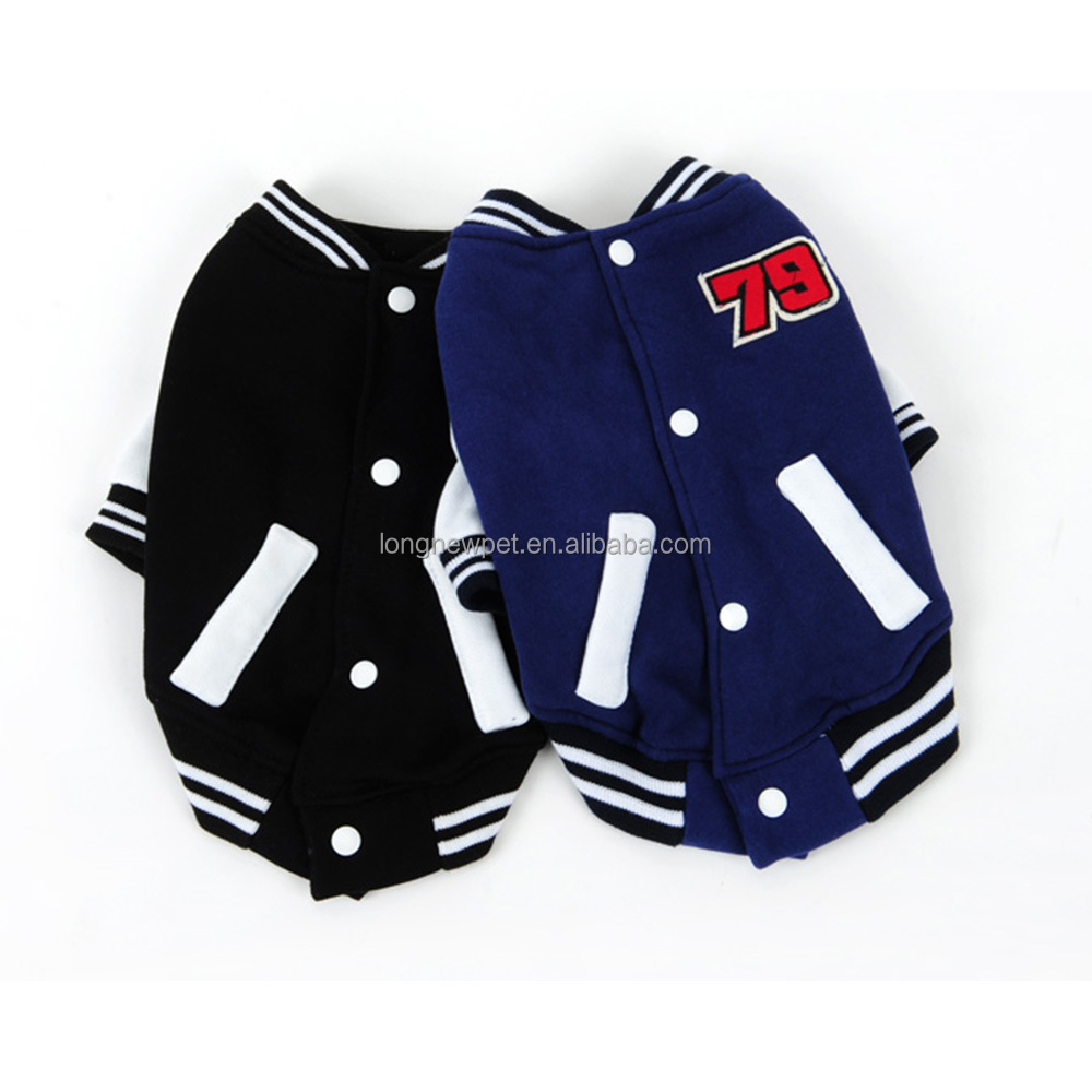 Stylish Puppy Baseball Jacket Clothes for Dogs Designer Pet Casual Wear