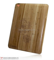 High quality perfect design new carving bamboo wood protective mobile phone case for Ipad 2