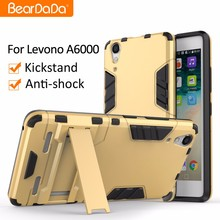 Top Quality Anti shock kickstand TPU PC phone case for lenovo a6000