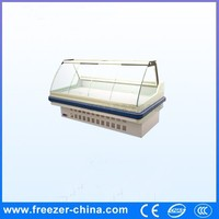 Made in China display cooler type supermarket deli cooked food refrigerator showcase