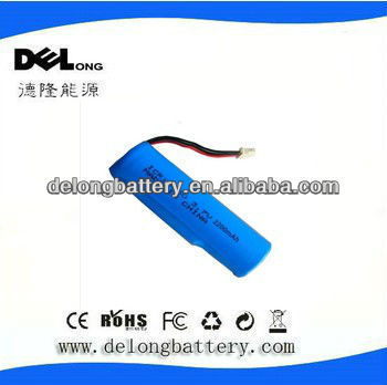 3.7V 2200mAh Rechargeable Lithium battery pack