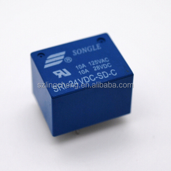 Songle Power PCB Relay SRI-24VDC-SD-C