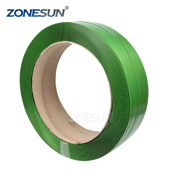 "ZONESUN 406/16""core size virgin green PET/PP packing straps supply"