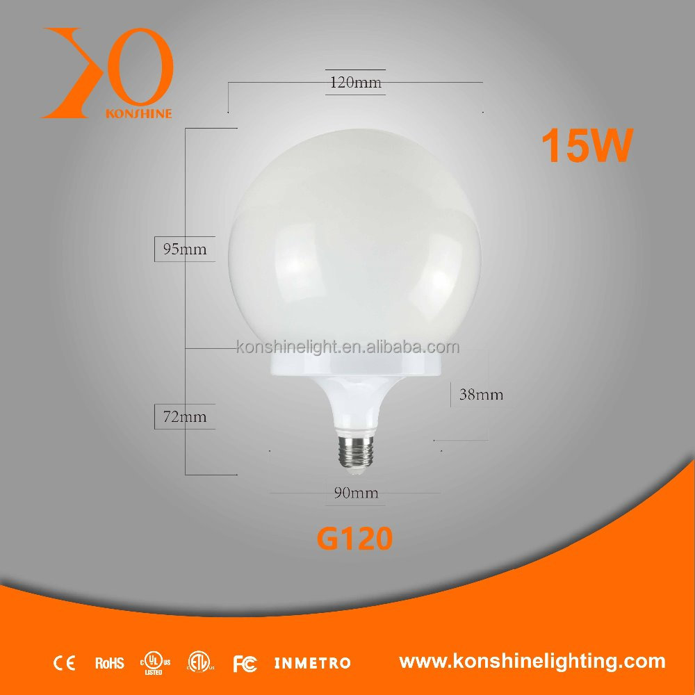 15W 90-260V LED Globe Shape LED Lights/Lamps E26/E27/B22