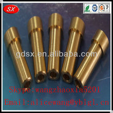 OEM precision brass cnc turning parts,brass smoking pipe parts,brass electrical parts in dongguan,ISO9001:2008 passed