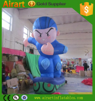 big size inflatable surfing boy cartoon for adversing