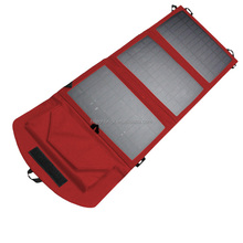 Outdoor Travel 10.5W Solar Panels Solar Fold Bag With USB Black Mobile Power Solar Chargers For Homes