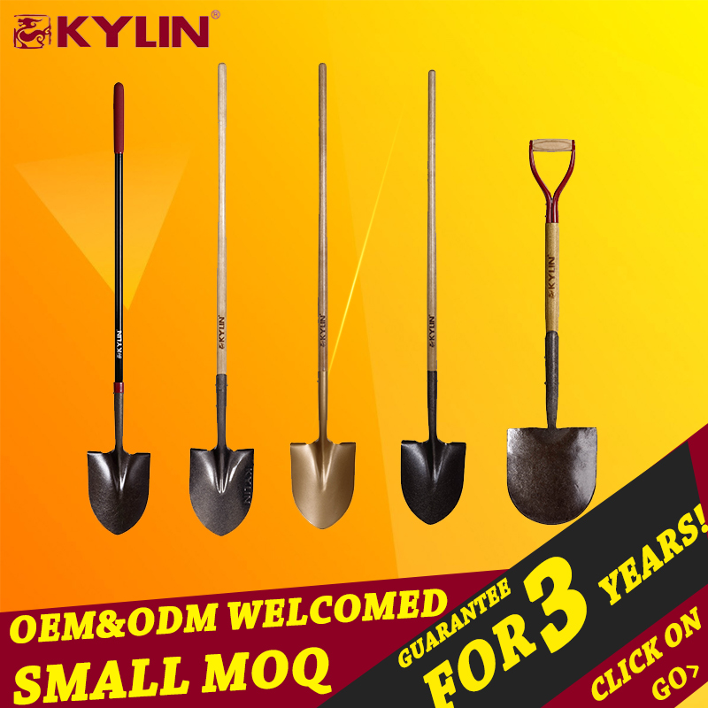 Wholesale Digging Tools Wood Handle Garden Shovel Scoop