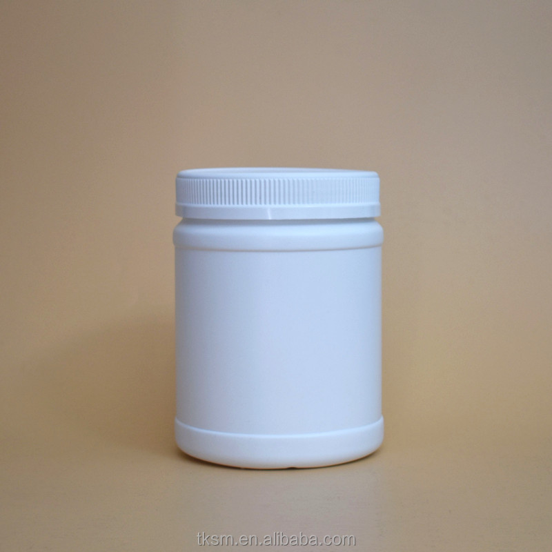 2500ml side traight with wide mouth probiotics sport drink powder barrel whey cylindrincal white black jar
