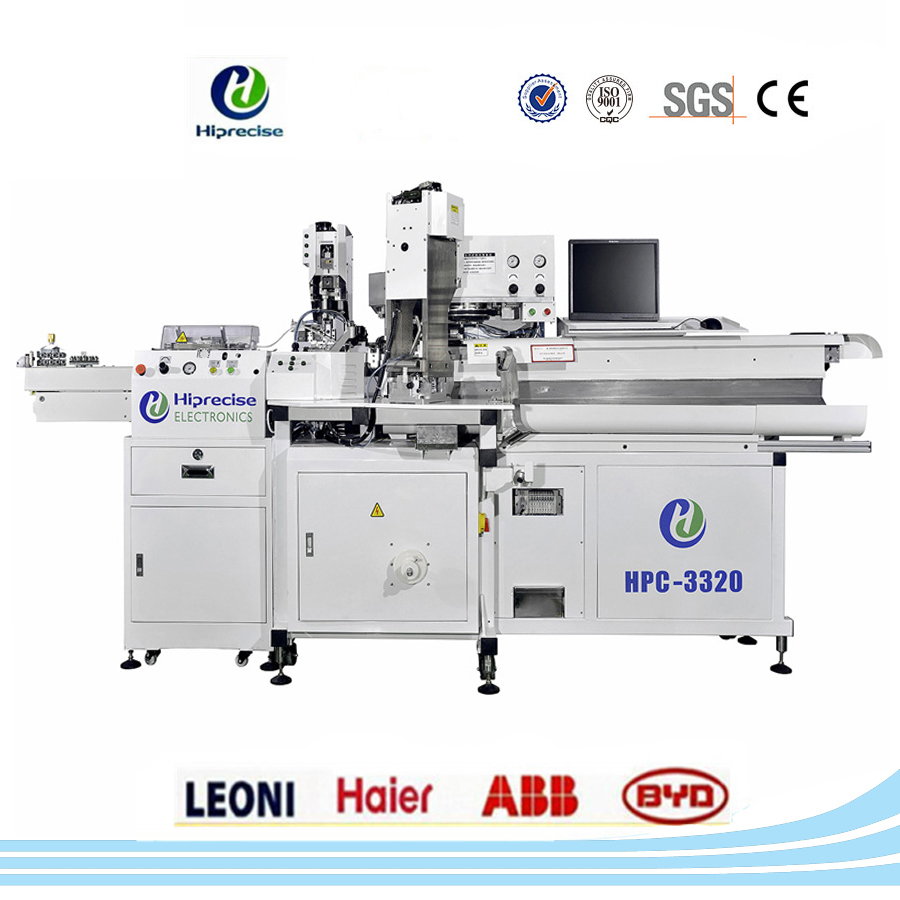 Fully automatic wire cable cutting stripping and crimping machine