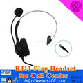 Telephone operator headset from specialized manufacturer