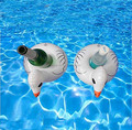 Custom white duck Inflatable Drink Holder Floating Cup Holder Swimming Pool Can Holder