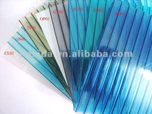 Colored Twin Wall Hollow Polycarbonate Panel for Green House