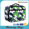 Green camo printed outdoor picnic customs fitness bag